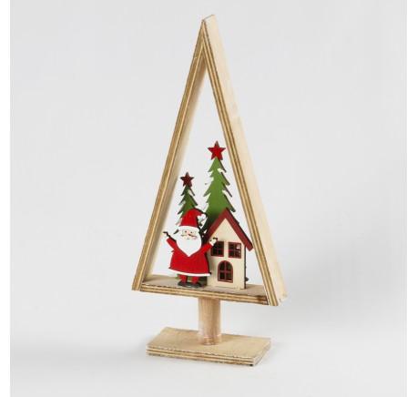 Arbre Bois Noël HT 32,5 cm  - Décoration de Noël  - Lecomptoirdesauthentics