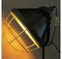 Lampe sur trepied métal façon vieux projecteur