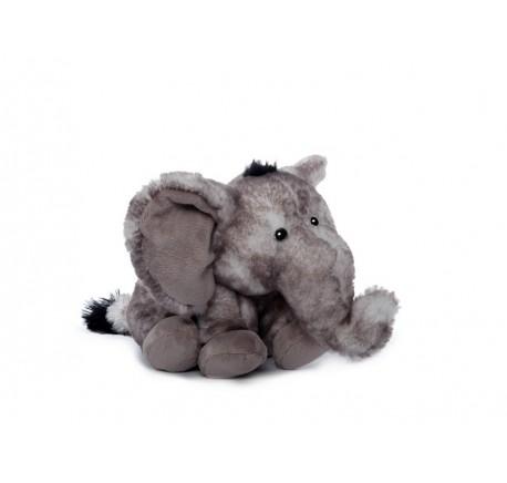 Peluche éléphant assis doux 15 cm - Peluche, doudou - Lecomptoirdesauthentics