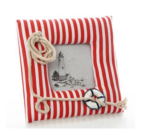 Cadre photo marin rouge et blanc - Cadre, miroir, tableau - Objet déco Maison - Lecomptoirdesauthentics