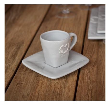 Tasse à Café Espresso en céramique grise DOLCEVITA - Vaisselle - Lecomptoirdesauthentics