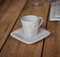 Tasse à Café Espresso en céramique grise DOLCEVITA