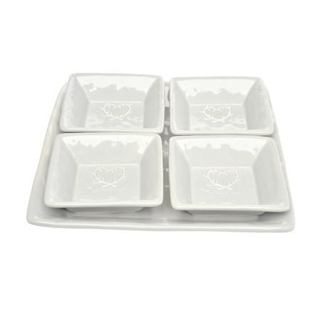 Set Apéritifs Coupelles et Plats céramique grise DOLCEVITA - Vaisselle - Lecomptoirdesauthentics