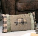 Coussin Velours Ours Collection CHALET