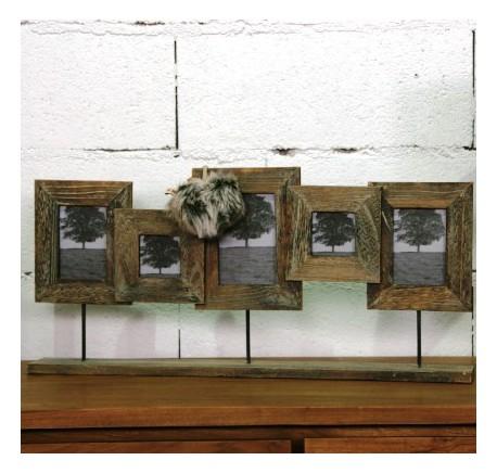Cadre photos bois poser cadre miroir tableau objet for Objet deco a poser