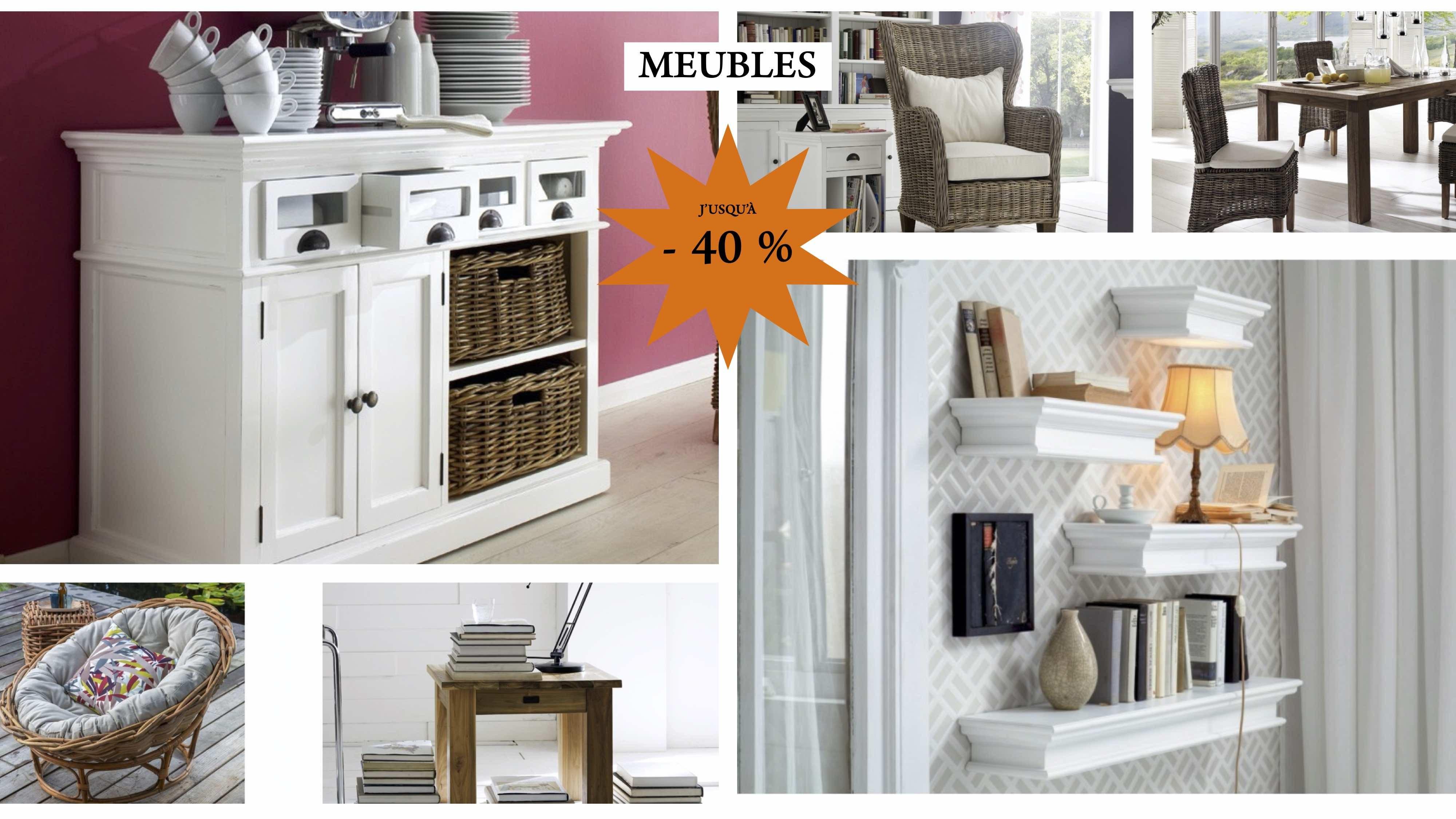 Meubles, teck, tables et mobilier à -40 %
